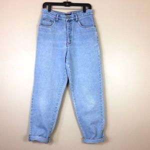 Vintage Bill Blass High Waist Light Wash Mom Jeans